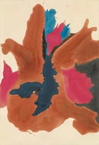 Helen Frankenthaler, Pink Lady (1963) c) Helen Frankenthaler Foundation, Inc./ Artists Rights Society (ARS), New York. Courtesy of Gagosian Gallery. Photo by Rob McKeever. Acrylic on canvas, 84 x 58 in.