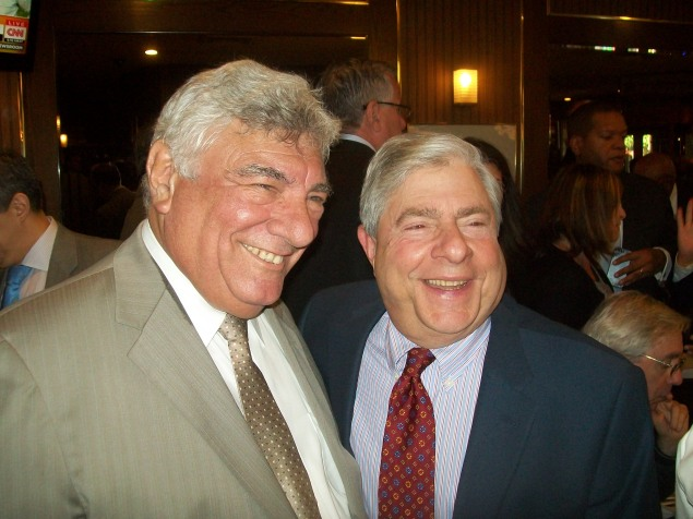 Frank Seddio (left) with Brooklyn Borough President Marty Markowitz. (Photo: Ross Barkan)