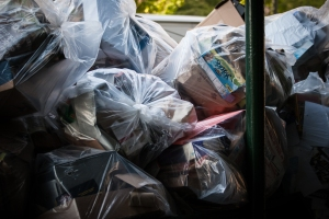 Trash build up in Battery Park back in 2012 (Clemens Vogelsang/Flickr