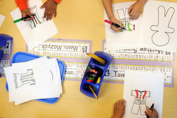 Pre-kindergarten children at public charter school.