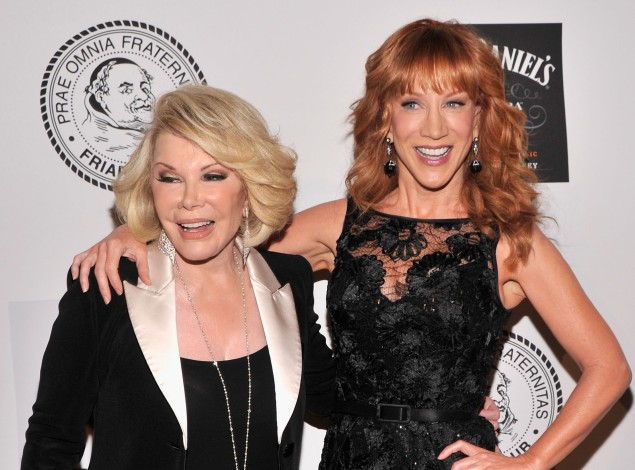 Joan Rivers and Kathy Griffin in June 2013. (Photo by Stephen Lovekin/Getty Images)