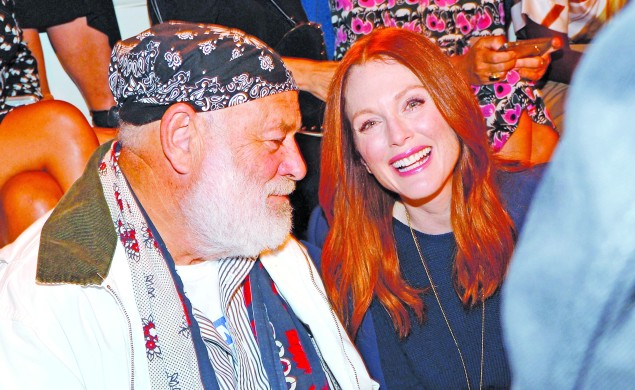 Bruce Weber and Julianne Moore at Ralph Lauren. Photo by Patrick McMullan/PatrickMcMullan.com)