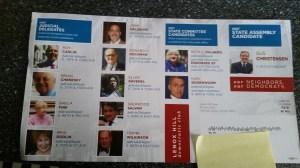 The Lenox Hill Democratic Club mailer featuring Mr. Christensen.