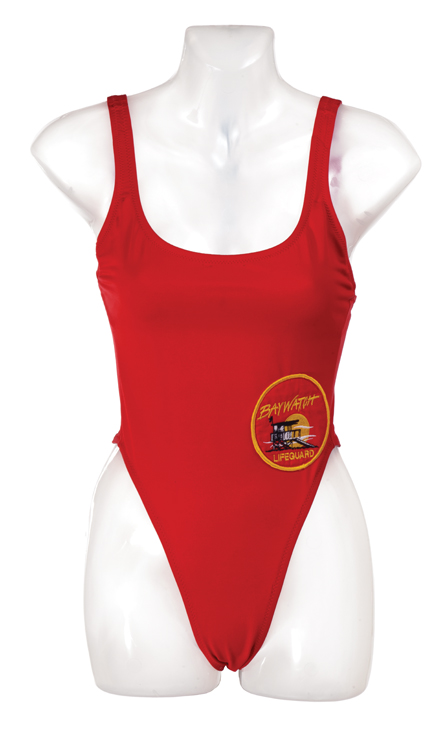 Pamela Anderson's Baywatch swimsuit. (Photo courtesy Profiles in History 2014, profilesinHistory.com)