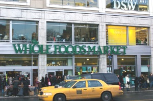 Whole Foods Market in busy Union Square (via Flickr).
