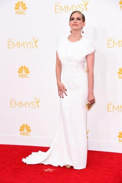 Ms. Chlumsky in Zac Posen at the 2014 Emmy Awards. (Photo via Getty)