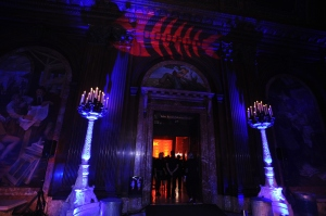The NYPL is transfomred into Gotham. (Bryan Bedder/Getty Images)