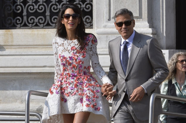Hollywood actor George Clooney and Lebanese-British lawyer Amal Alamuddin's recent marriage was greeted with great fanfare. (Photo credit ANDREAS SOLARO/AFP/Getty Images)