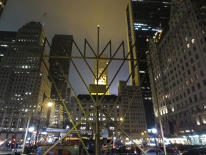 Mr. Agam created the world's largest menorah for New York. (Photo credit: Ryan Janek Wolowski/Flickr)