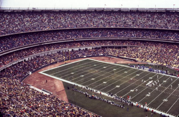 The New York Jets at Shea Stadium in 1976. (Photo by Olen Collection/Diamond Images/Getty Images)