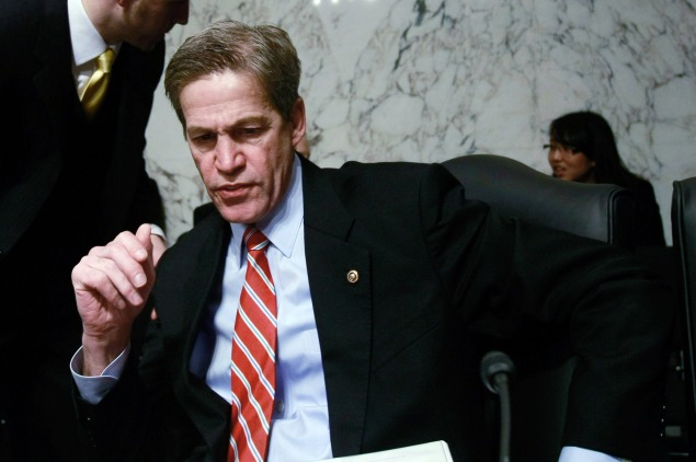 Former senator Norm Coleman, head of an influential super-PAC, is now lobbying for Saudi Arabia. (Photo by Win McNamee/Getty Images)