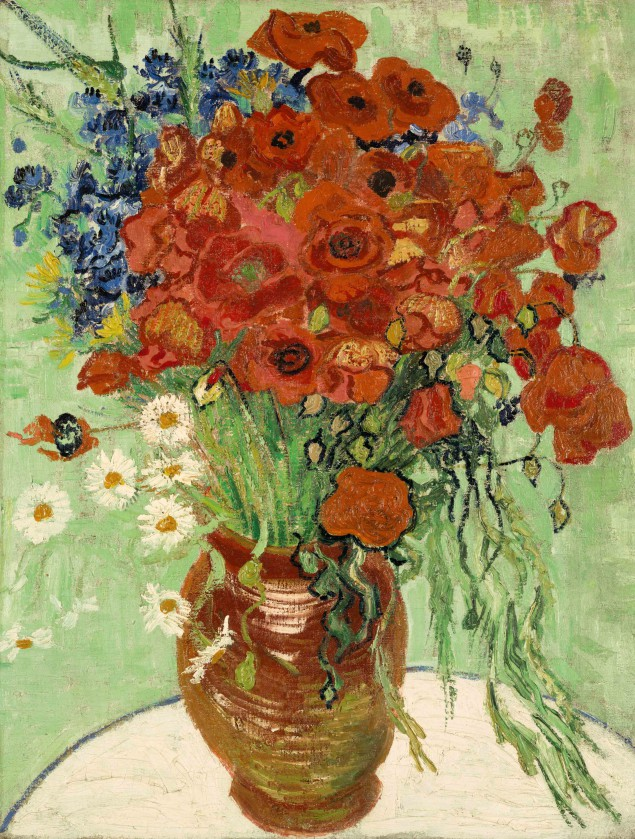 Vincent van Gogh Still Life, Vase with Daisies and Poppies, 1890. Est. $30/50 million. (Courtesy Sotheby's New York)
