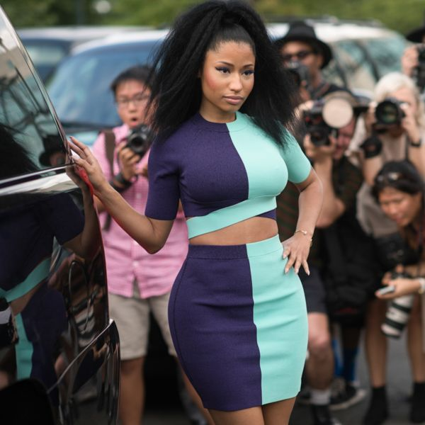 Nicki Minaj outside Alexander Wang. Photo: BFA