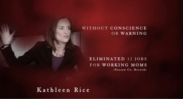 "A frame from Bruce Blakeman's ""What's Wrong With Her?"" ad (Screengrab: Blakeman 2014 campaign)."