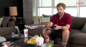 You, Will Ferrell and that bag of chips (Screengrab: Youtube).