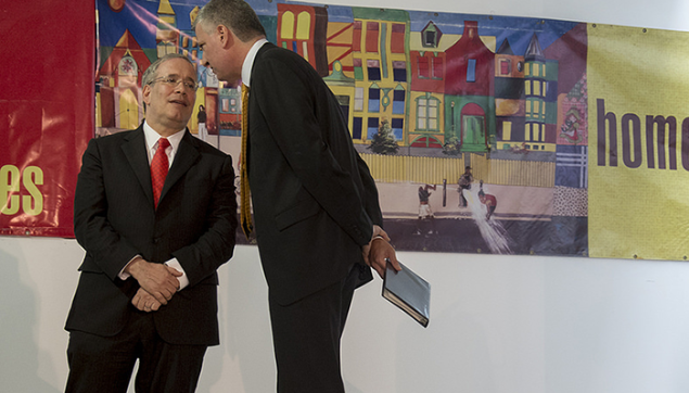 Mayor Bill de Blasio and Comptroller Scott Stringer (Photo: NYC Mayor's Office).