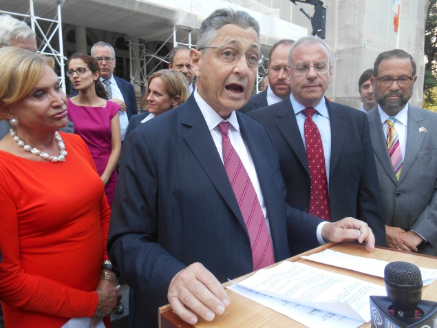 Assembly Speaker Sheldon Silver this afternoon. (Photo: Ross Barkan)