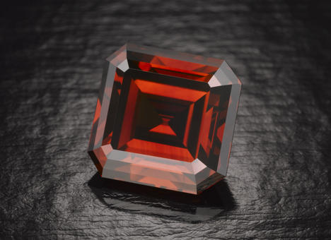 The rare Kazanjian red diamond, (its authenticity undisputed) is on view at the American Museum of Natural History through Sept. 28.