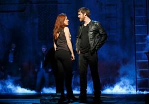 Rachel Tucker and Michael Esper in The Last Ship. Photo by Joan Marcus