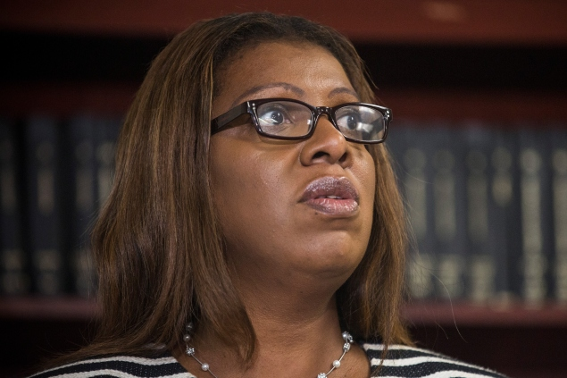New York City Public Advocate Letitia James  (Photo by Andrew Burton/Getty Images)