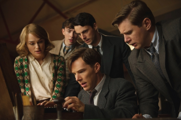 The Imitation Game features a superb Benedict Cumberbatch, center, that British upstart with the impossible name, as the mathematician Alan Turing.