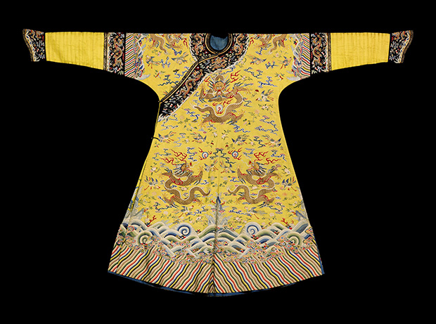 A Rare Imperial Yellow Empress' Kesi Semi-Formal Robe, Qing Dynasty, Qianlong Period. Estimate $150,000-250,000, at Sotheby's.