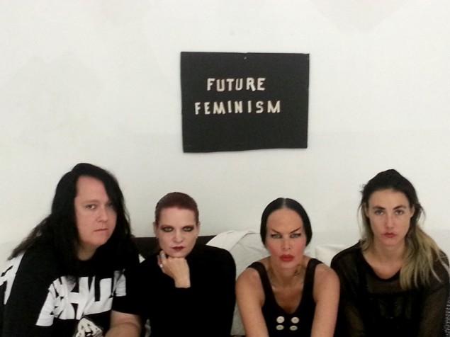 Future Feminism creators Antony, Kembra Pfahler, Johanna Constantine, Bianca Casady, and Sierra Casady