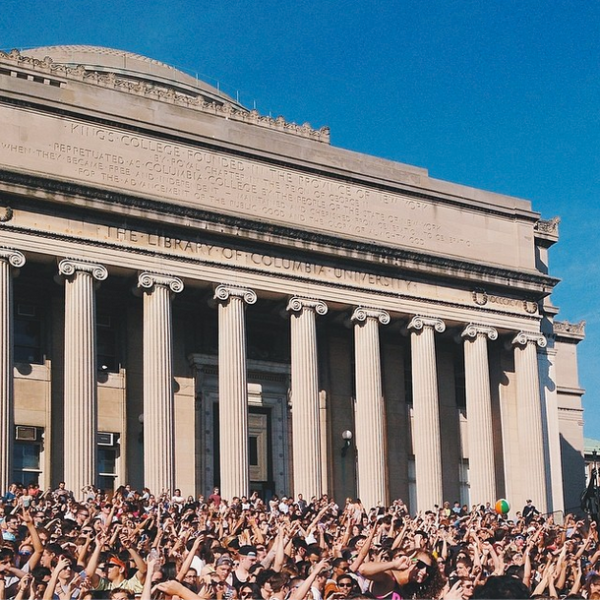 Columbia students at Lupe Fiasco's concert during the spring 2014 Bacchanal (Photo: Alex Nguyen/Instagram)