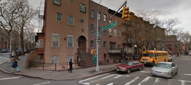 A street in the Brooklyn neighborhood where the flyers were discovered. (Screengrab: Google Maps)