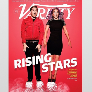 The Variety cover featuring Mr. Dawson and Ms. Marbles. (Facebook)