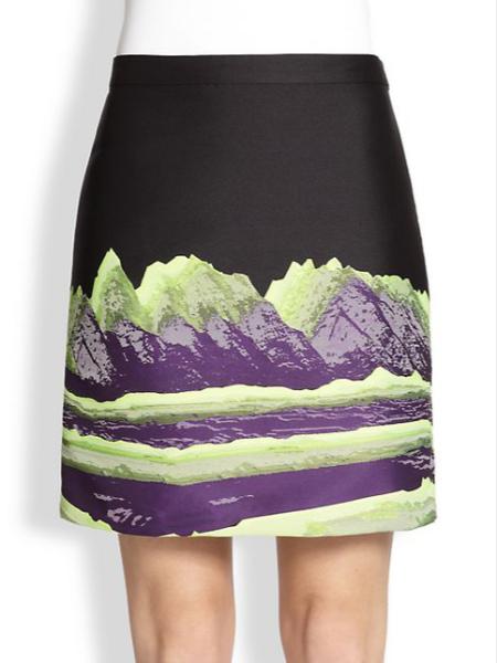 Alexander Wang's vaguely stripey space mountain skirt. (Photo via Saks)