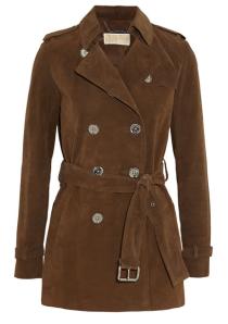 Suede coat by Michael Michael Kors, $595. (Photo via Net-a-Porter)