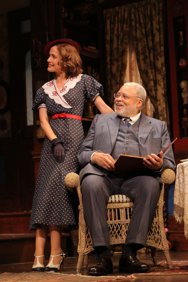 Rose Byrne, making her Broadway debut,  and James Earl Jones.