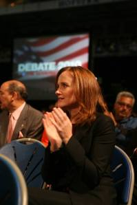 Nassau District Attorney Kathleen Rice at Hofstra University October, 2010 (Photo by Howard Schnapp-Pool/Getty Images)