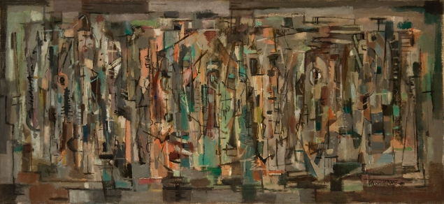 Norman Lewis, Lewis Crossing (1949) (Courtesy of Michael Rosenfeld Gallery, LLC, New York, NY)