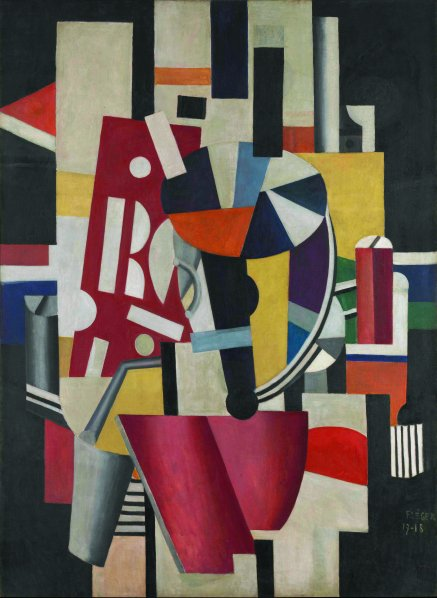 Fernand Léger,  Composition (The Typographer),  1918-19. (Courtesy 2014 Artists Rights Society (ARS), New York / ADAGP, Paris)