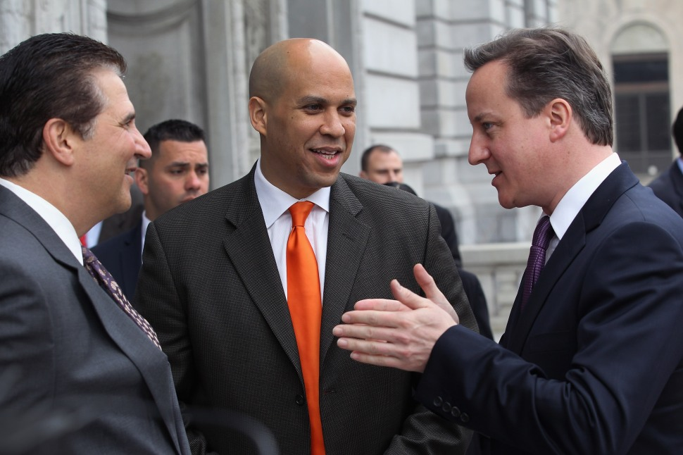 UK Prime Minister Cameron Visits Newark And New York