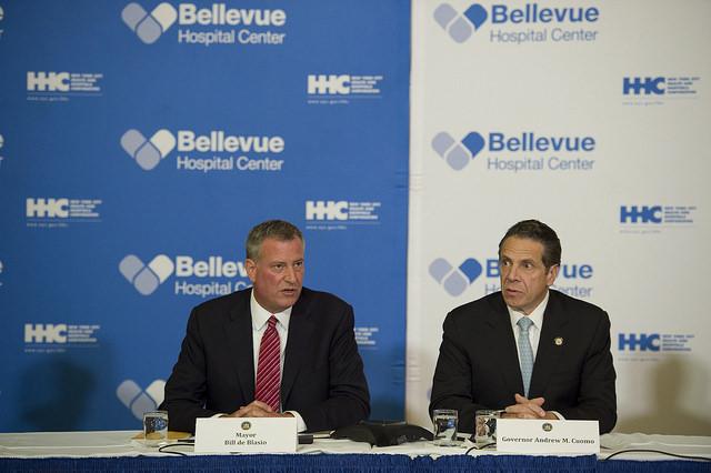 Mayor Bill de Blasio with Gov. Andrew Cuomo. (Photo: NYC Mayor's Office)