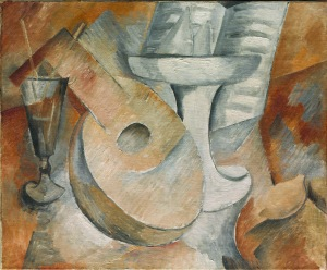 Georges Braque, Mandolin and Fruit Dish, 1909.  (Photo Courtesy Artists Rights Society (ARS), New York / ADAGP, Paris)