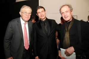 James MacGregor, left, with some art world types. (Patrick McMullan)