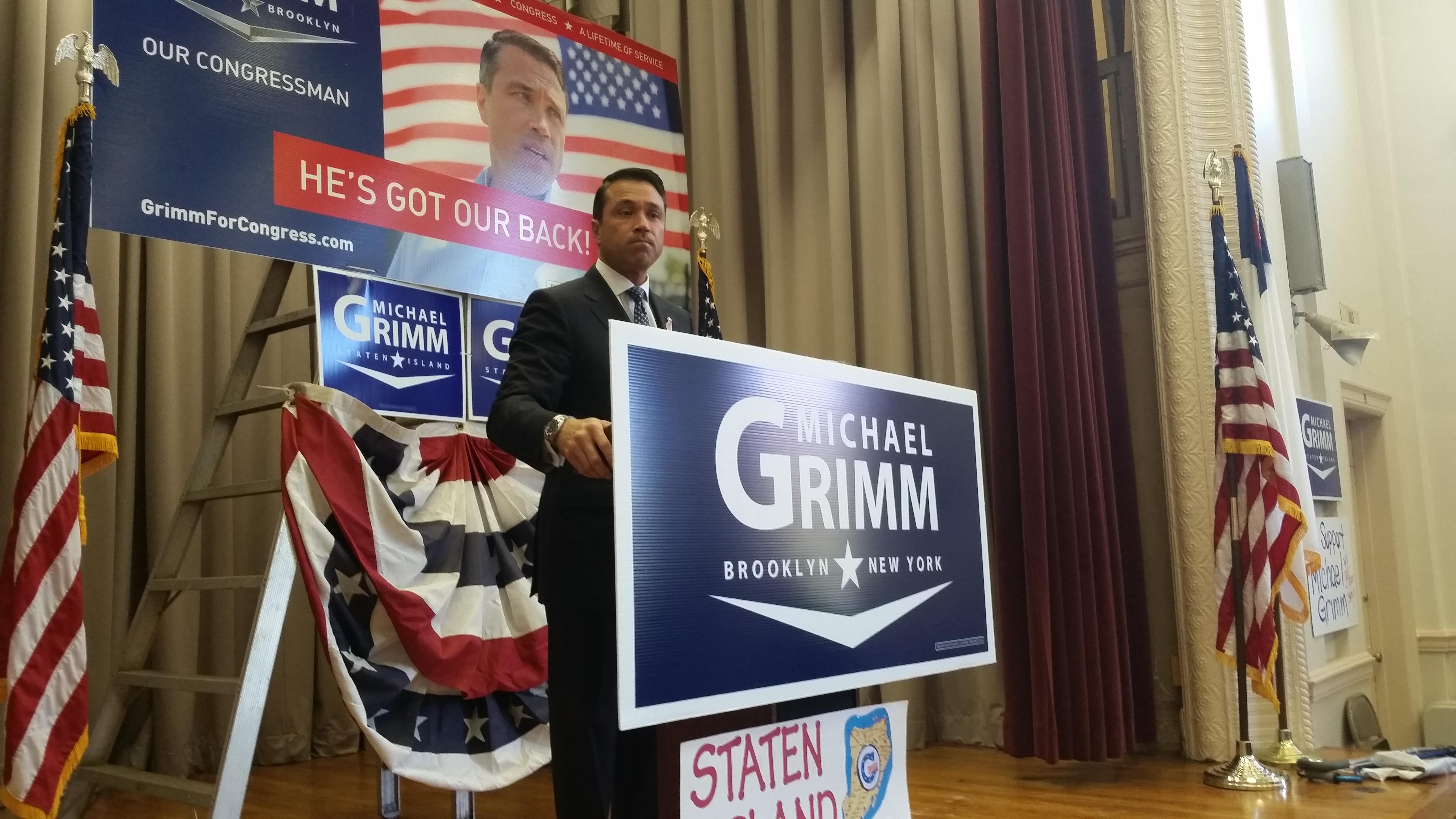Congressman Michael Grimm on Saturday. (Photo: Ross Barkan)