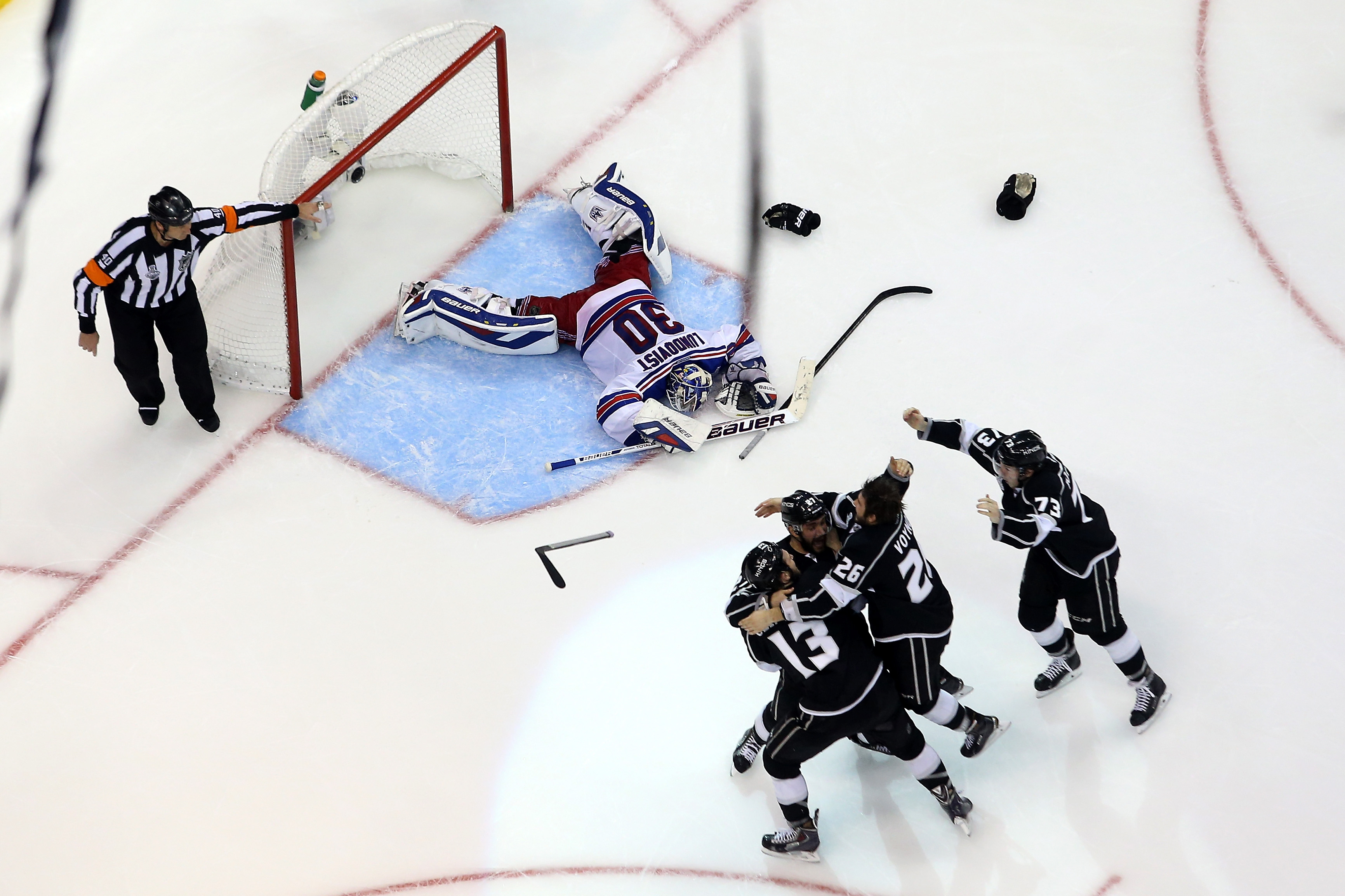 """""""When everything is over, it's a weird, empty feeling,"""" says Lundqvist. (Photo by: Bruce Bennett/Getty Images)"""