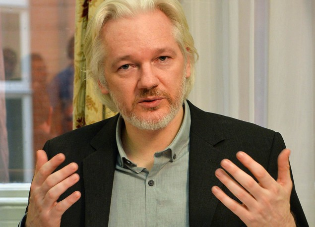 WikiLeaks, led by Julian Assange, is encouraging leaks of the TPP and TTIP trade deals through a crowdfunding campaign. (Photo: John Stillwell/Getty Images)