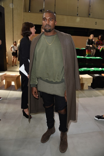 Kanye West at the Celine show on Sept. 28. (Photo via Getty)