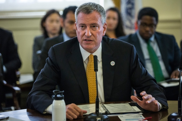 Mayor Bill de Blasio. (Photo: Andrew Burton/Getty Images)