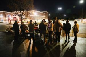 Protestors in Ferguson, Missouri. (Photo by Scott Olson/Getty Images)