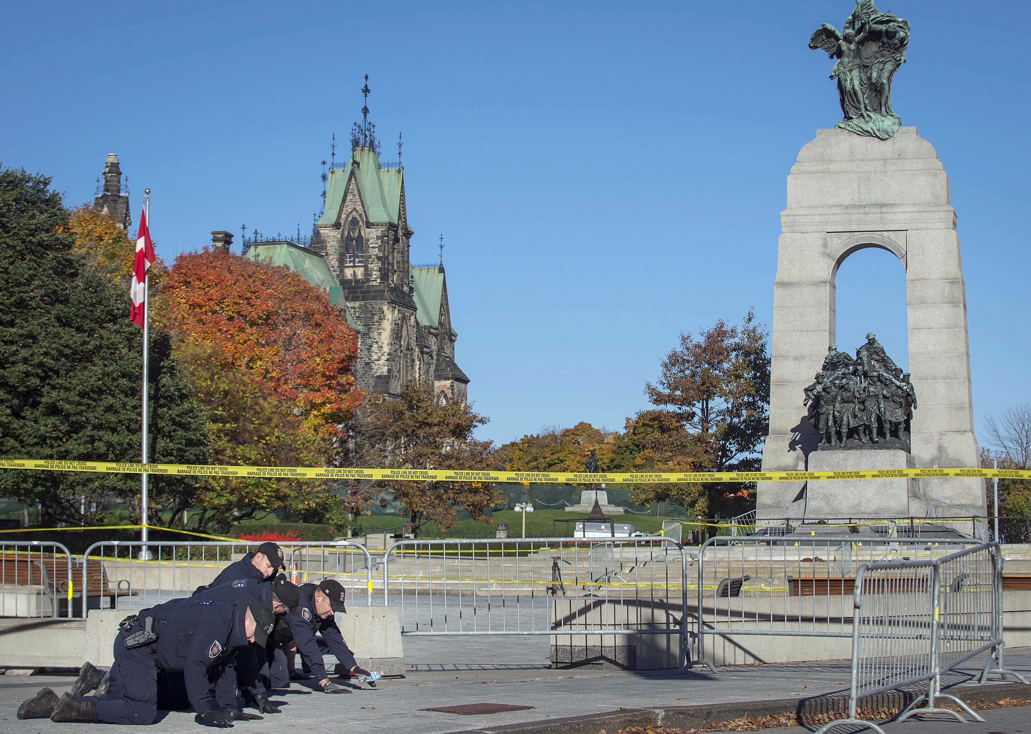 The scene of the deadly shooting in Ottawa on October 22.  (Photo: Peter McCabe/AFP/Getty Images)