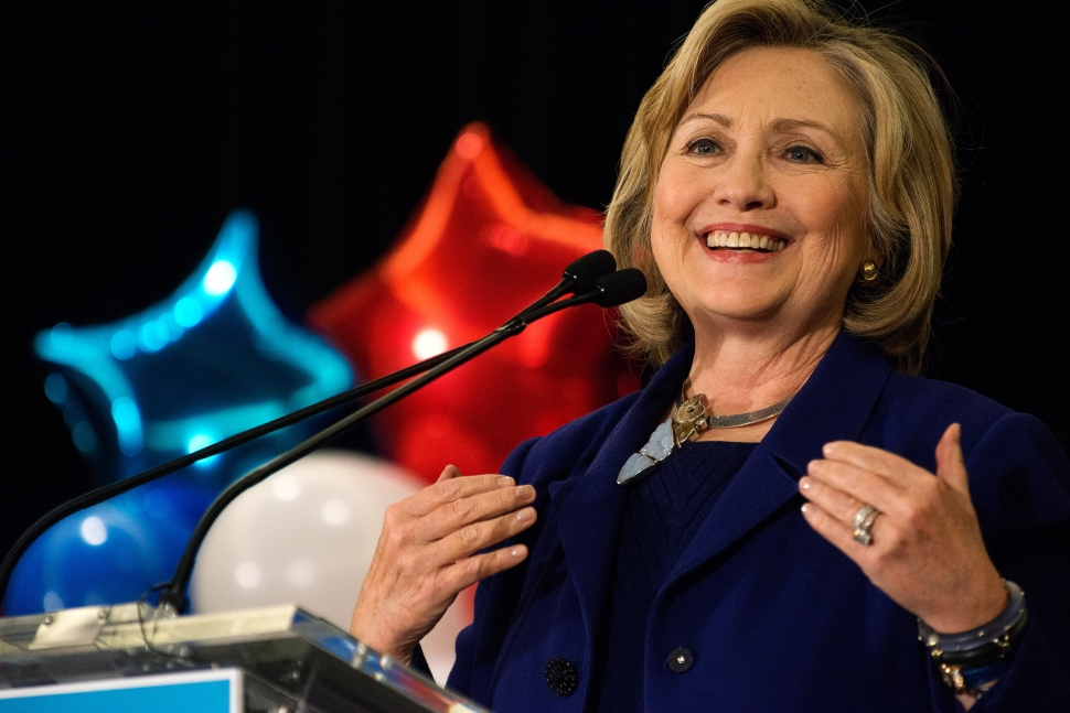 Hillary Rodham Clinton,  October 23, 2014. (Photo by Bryan Thomas/Getty Images)