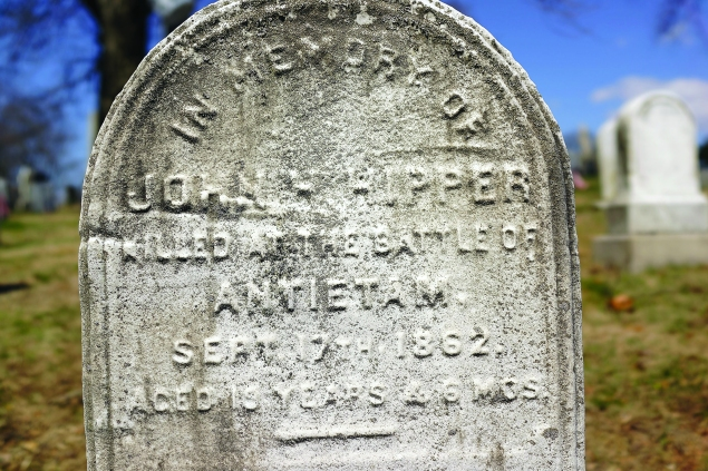 A headstone at the Green-Wood Cemetery. (Photo via Getty Images)