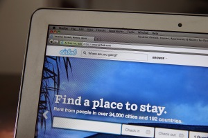 Airbnb connects locals with people looking for a place to stay. (Justin Sullivan/Getty)